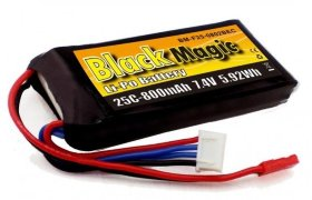 Аккумулятор Black Magic LiPo 7.4V 2S 25C 800 mAh - BM-F25-0802BEC